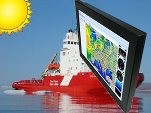 Rugged Marine Display with Multi-Touch